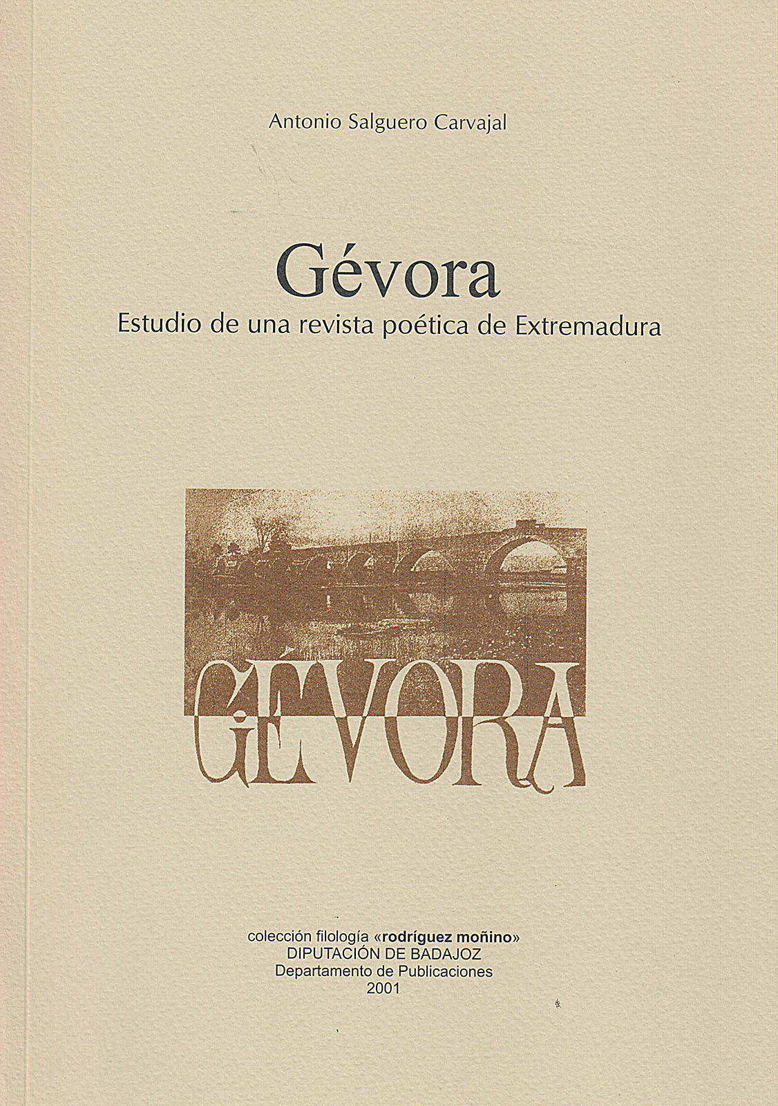 6ad910792af3 Gévora. Estudio de una revista poética de Extremadura.